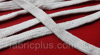 Шнурки  х/б  плоские  метраж. (1 см)  белые