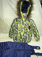 """Зимний костюм для мальчика """"Авантюрист"""" зеленый. Размер 104+ (4-5 лет)"""