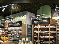 Стелажи и прилавки для супермаркета