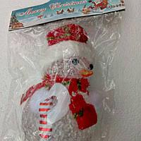 Декоративное украшение снеговик большой