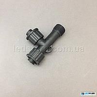 Коннектор для гирлянды DELUX new 2 выхода  IP44 черный EN, фото 1