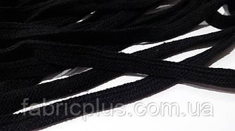 Шнурки  х/б  плоские  метраж. (1 см)  черные
