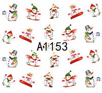 Слайдер  для ногтей 1153 Новогодний дизайн