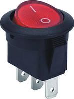 Переключатель клавишный с индикацией E.NEXT -  3 pin (3с); ON-OFF