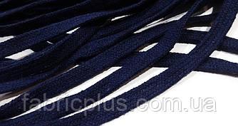 Шнурки х/б плоские метражные 1 см темно-синие
