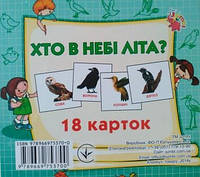 Картки міні (18 карток): Хто у небі літає (у)