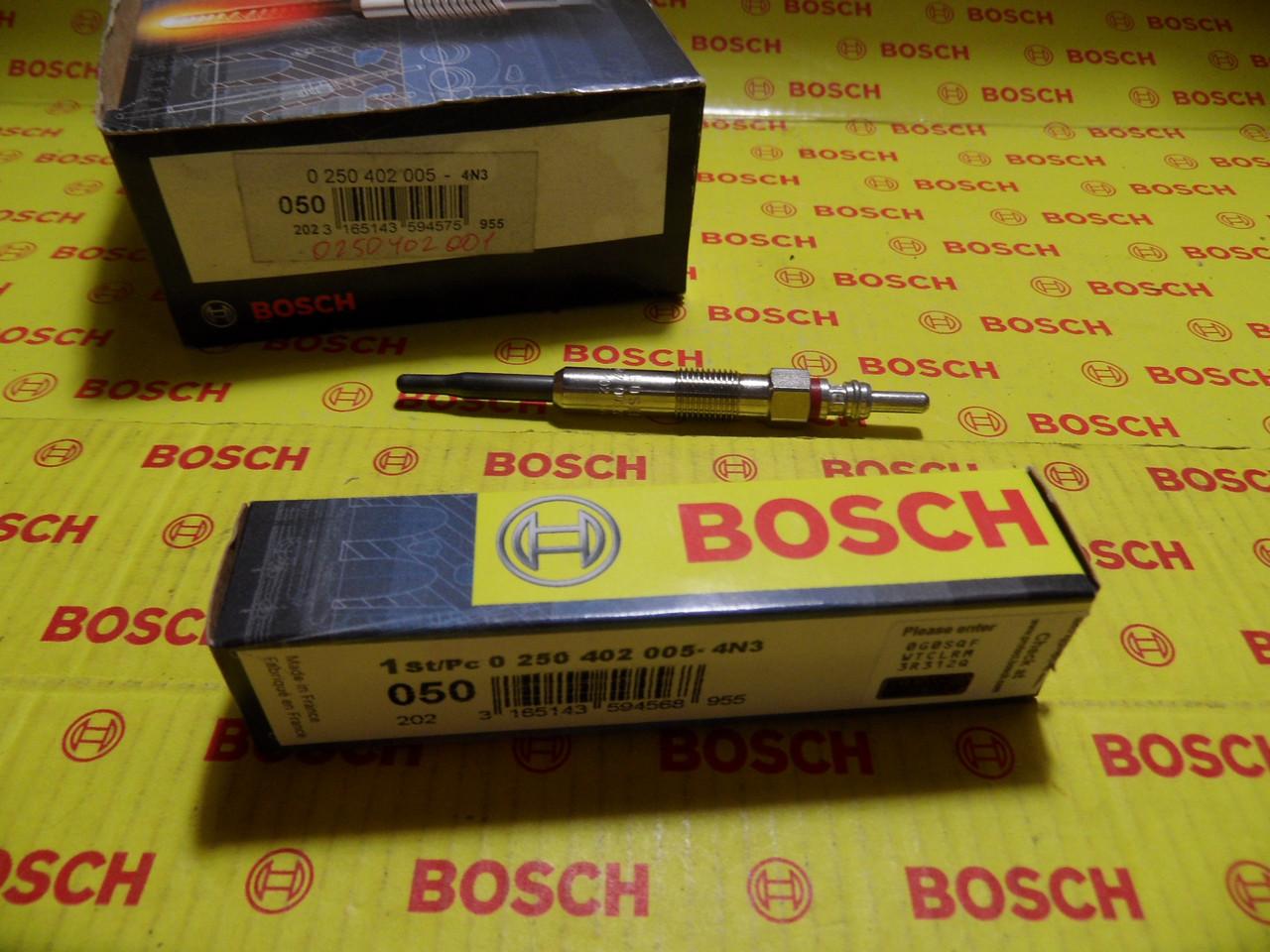 Свечи накаливания Bosch, 0250402005, 0 250 402 005
