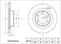 Оригинал диск тормозной передний TOYOTA LC120 4351260160*