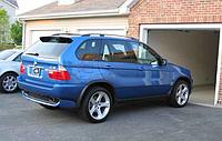 Накладка заднего бампера на BMW X5 e53 под 4.8is