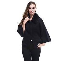 Стильный женский пиджак  c меховым воротником