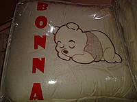 """Фирменный комплект постельного белья с балдахином. Вышивка """"Винни Пух"""""""
