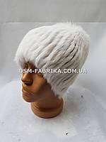 Белая меховая шапка для женщин кролик