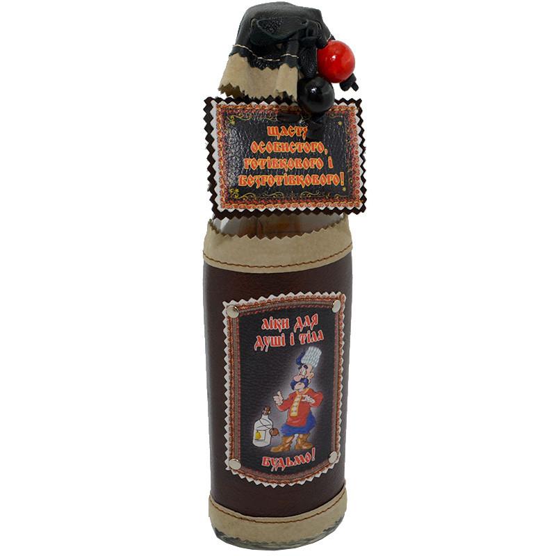 """Бутылка декоративная """"Щастя особистого готовкового і безготівкового"""""""