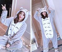Пижама-кигуруми, Тоторо, цвет серый