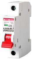 Модульный автоматический выключатель e.mcb.pro.60.1.C 25 new, 1р, 25А, C, 6кА