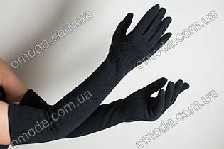 Длинные стрейчевые перчатки перчатки россыпь камней
