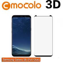 Защитное стекло Mocolo 3D 9H на весь экран full glue для Samsung G950 S8 черный