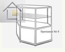 Конструктор (каркас) угловые витрины и прилавки из алюминиевого профиля (2578)1449,2576,2721