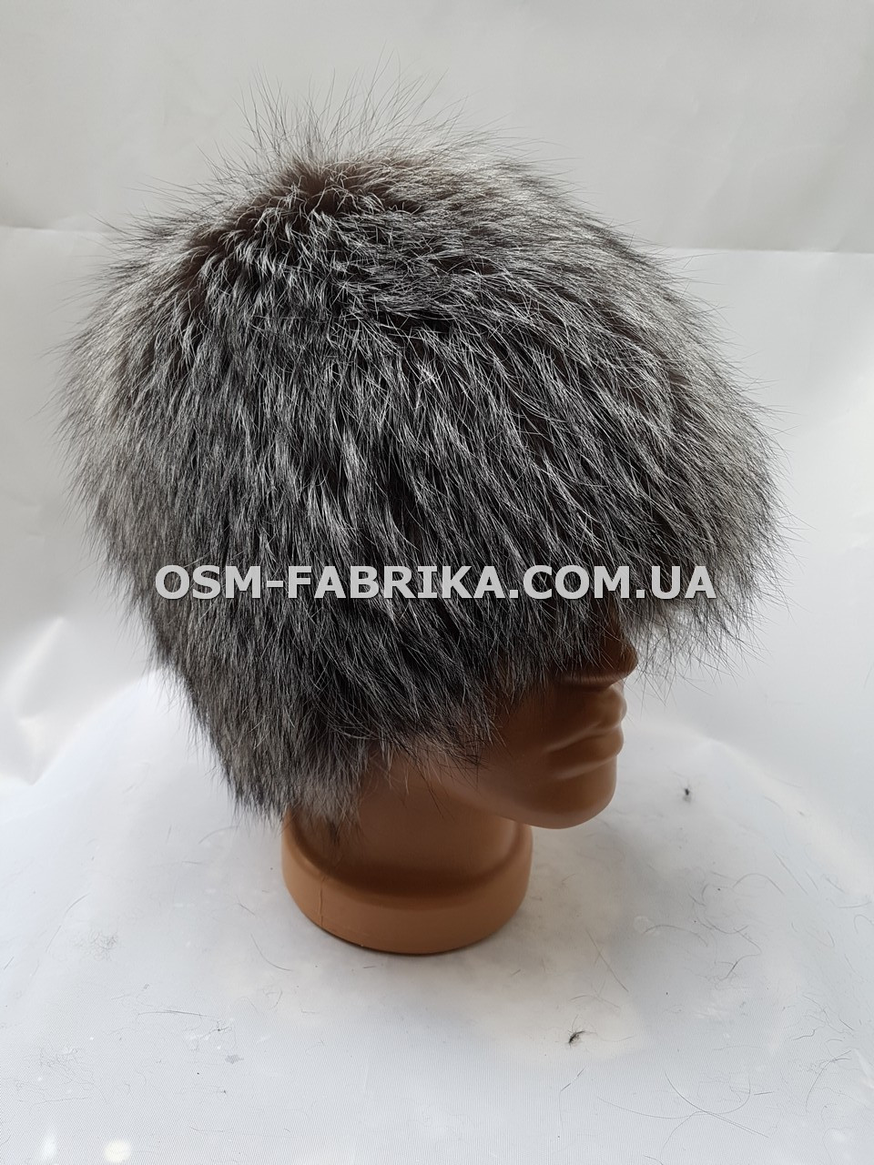 Теплая меховая шапка для женщин чернобурка новинка сезона