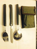 Набор для туриста(ложка,вилка,нож)