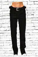 Прямые чёрные женские джинсы