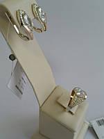 Набор серебряных украшений с фианитами (арт.01-096Н)