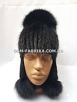 Качественная меховая шапка чернобурка новинка сезона