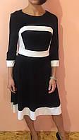 Платье женское классическое ZEAN черно-белое S