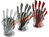 Стальные ножи кухонный + подставка EDENBER. ХИТ ПРОДАЖ!