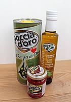 """Набор """"Домашний"""": оливковое масло для жарки, оливковое масло с базиликом, соус Pesto томат"""