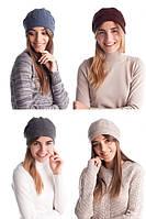 Женская двухслойная шапка №3083