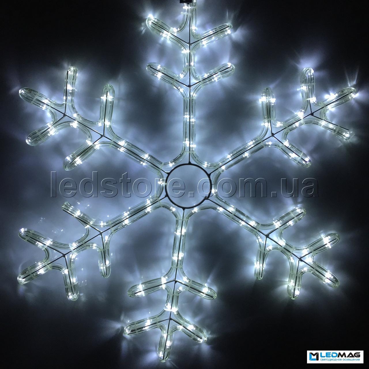 Светодиодная фигура Снежинка DELUX MOTIF Snowflake 0.55*0.55м IP44 Белая