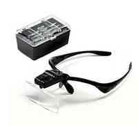 Увеличительные очки с LED подсветкой (Черные), фото 1
