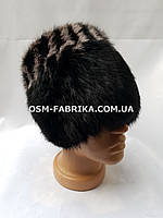 Стильная женская меховая шапка кролик хит продаж, фото 1