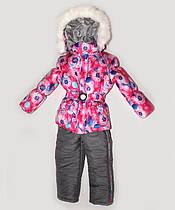 """Зимний костюм """"Эльза"""" для девочки принт в розовом цвете. Размеры 1-2-3-4 года"""