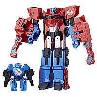 Трансформеры Transformers Роботы под прикрытием: Оптимус Прайм и мимикон HI-TEST Hasbro, фото 1