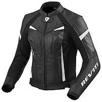 Мотокуртка для девушек Revit Xena2 кожа/текстиль черная/белая, 34