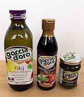 """Набор """"Салатный МИНИ"""": бальзамический крем, масло виноградной косточки, соус Pesto базилик"""
