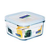 Стеклянный контейнер для хранения с герметичной крышкой с креплениями Glasslock, 490 мл., квадратный (MCSB-049)