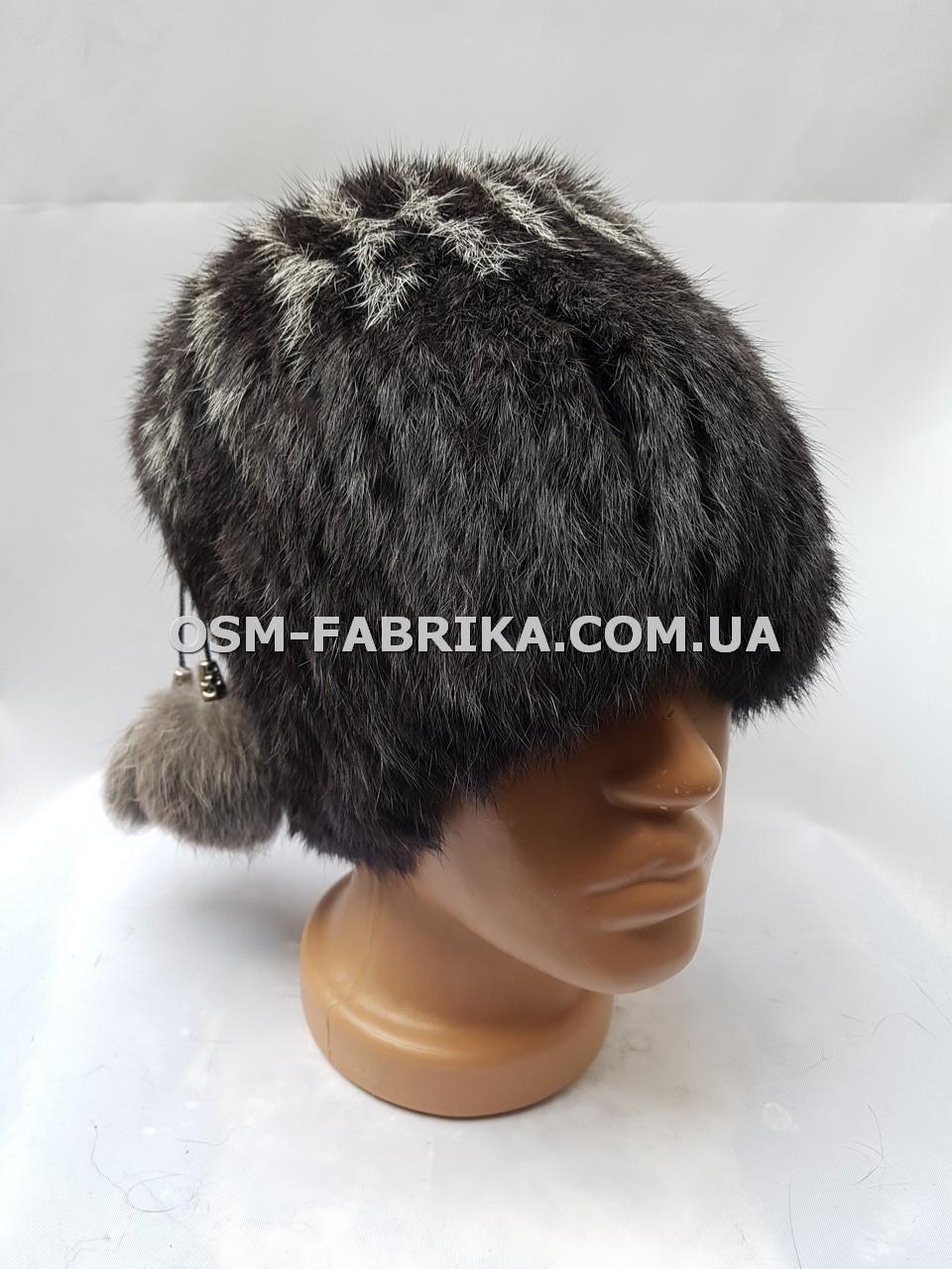 Меховая шапка для женщин кролик от производителя
