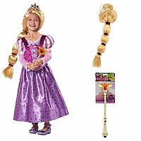 Карнавальный костюм Рапунцель 2017 + парик и волшебная палочка, Disney, фото 1