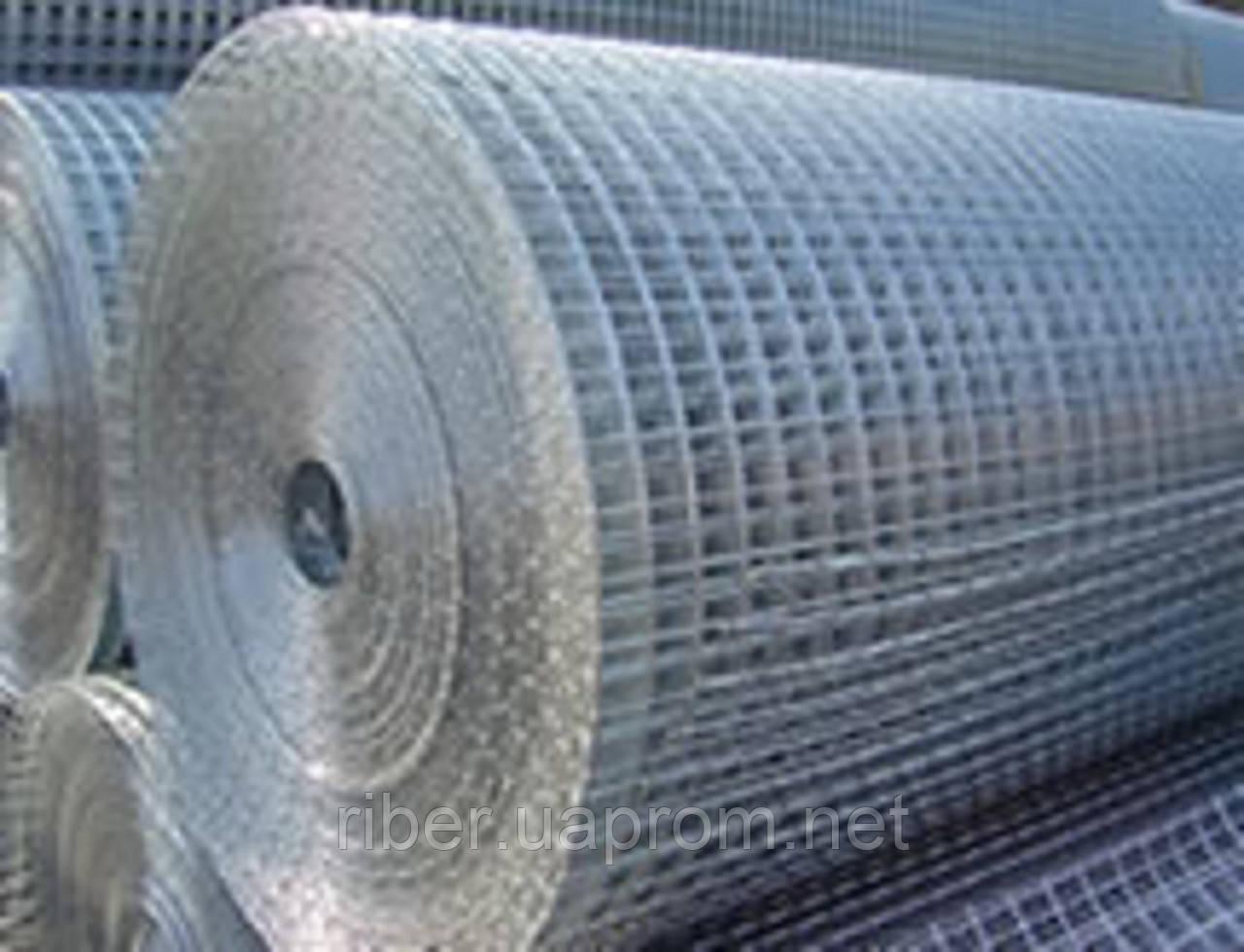 Сварная оцинкованная сетка 25х25х1,4мм
