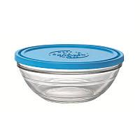 Большая миска-салатник-контейнер с крышкой Duralex Lys Frashbox с крышкой, круглый, закаленное стекло, Ø 23, 2400 мл (9068AM06)