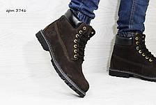 Мужские зимние ботинки Timberland,Тимберленд,нубук,темно коричневые 44,45р, фото 2