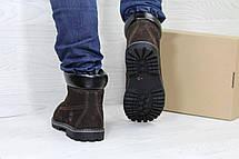 Мужские зимние ботинки Timberland,Тимберленд,нубук,темно коричневые 44,45р, фото 3