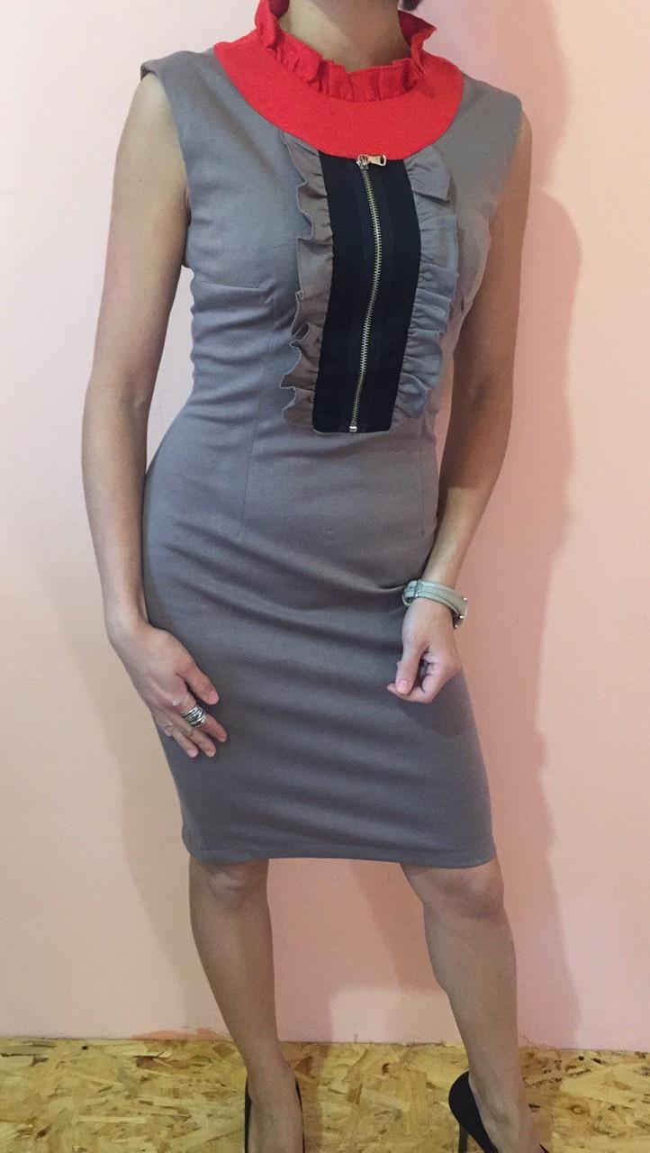 Платье женское ZEAN 1006 серое 34-38