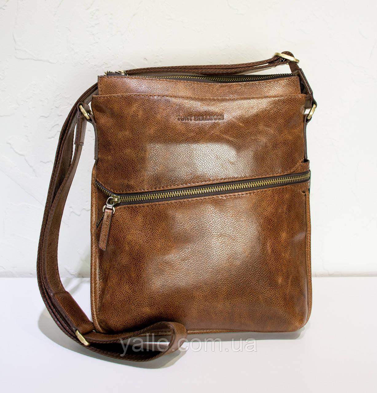 Натуральная кожаная сумка для мужчин Tony Bellucci T5029-