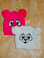 Детская теплая зимняя шапка - bear