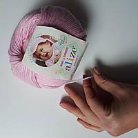 Нитки для вязания Baby Wool полушерсть розовый