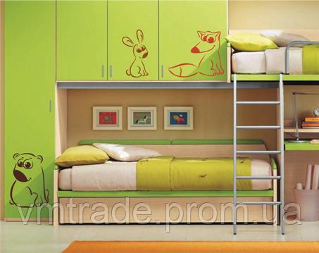 Шаблон под покраску artKids 45, Заяц, лиса, медведь, 64*44см